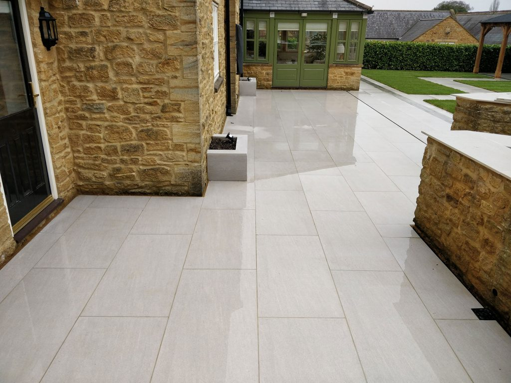 porcelain patio adding value to property investment