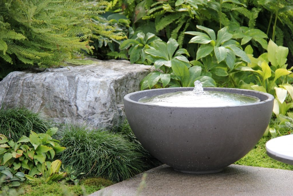 water feature in small garden