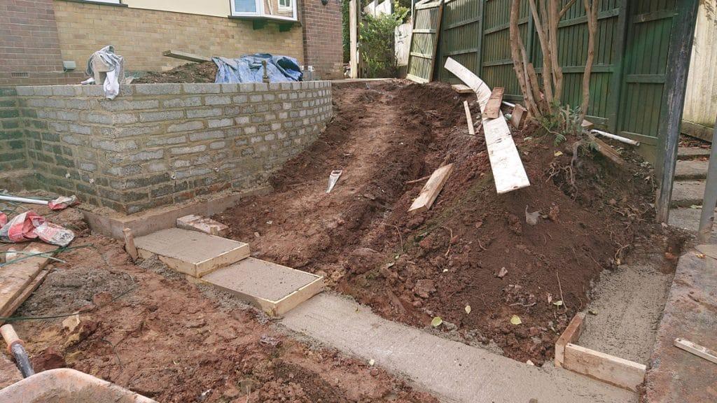 front garden makeover underway