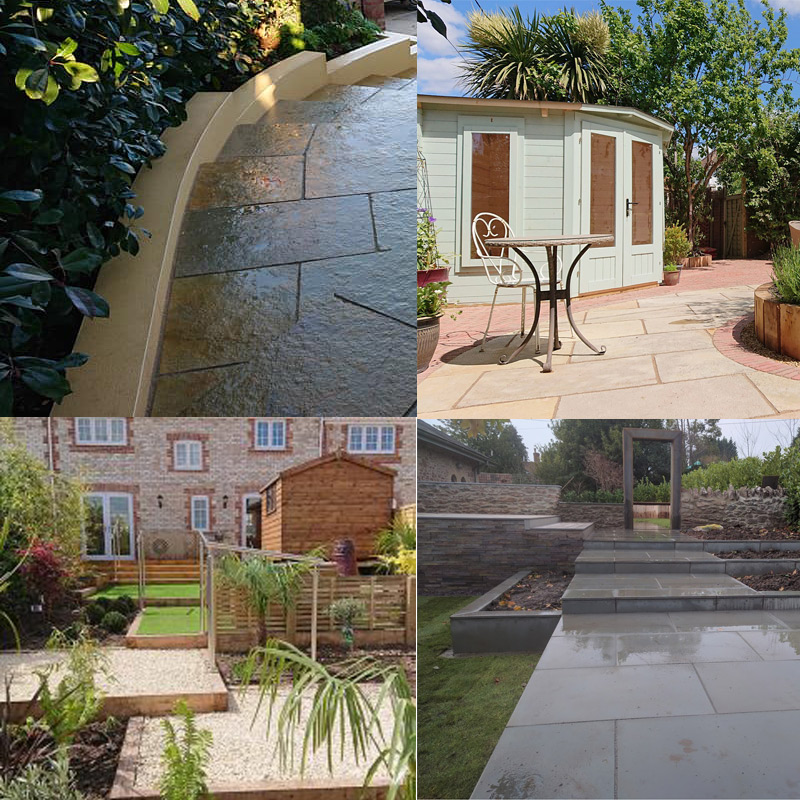 selection of landscaping materials for landscaping your garden