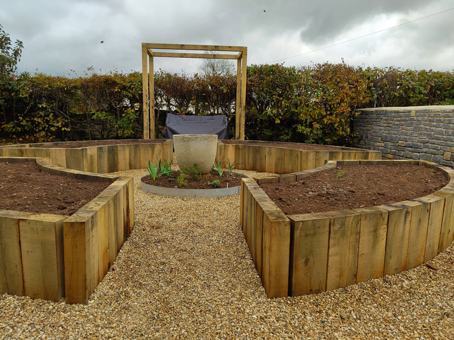landscaping ideas - secret garden with raised beds
