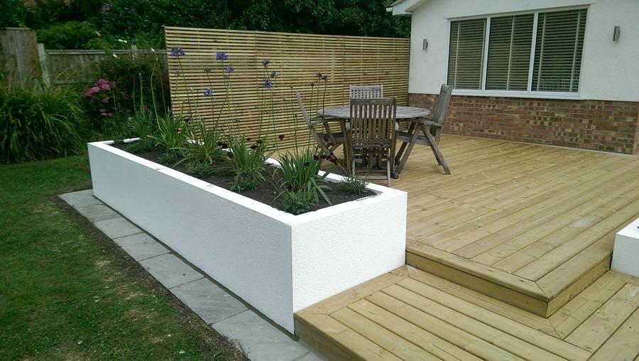 low maintenance garden decking