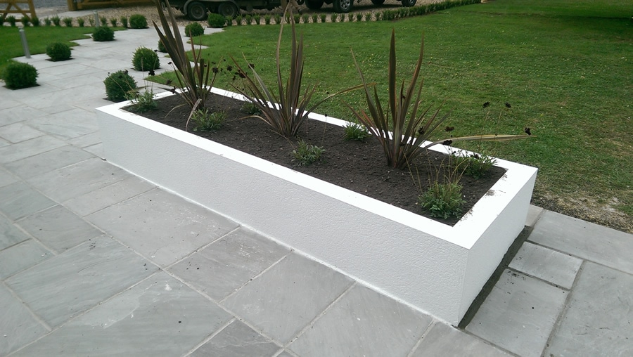 container with simple planting plan