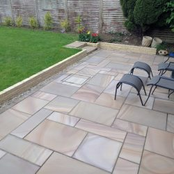 rainbow sawn sandstone patio