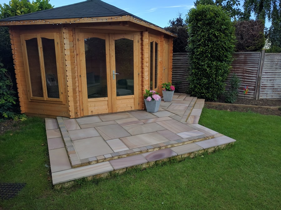 summerhouse with patio