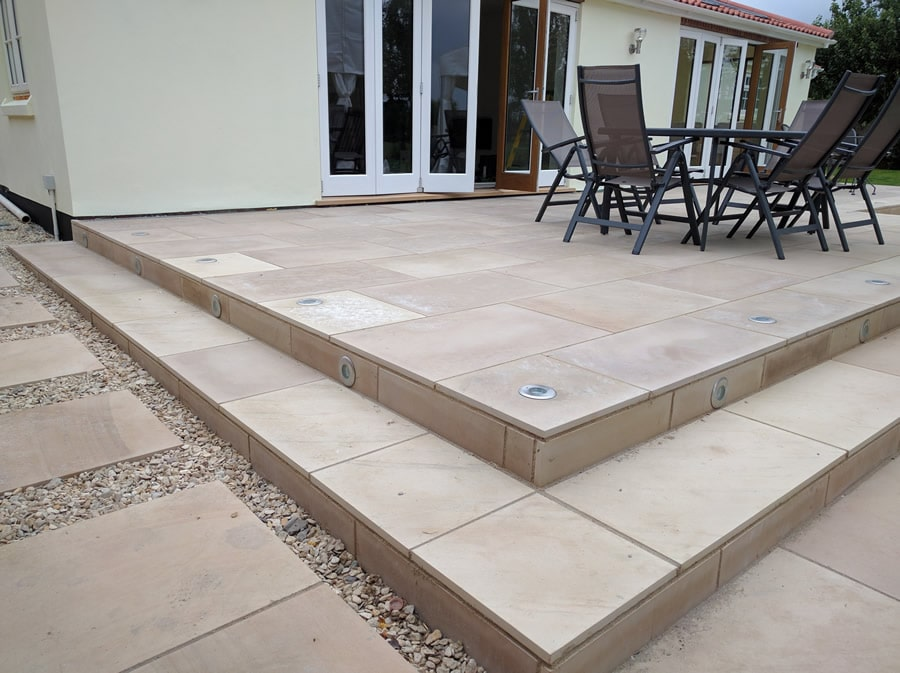 patio level with door sill