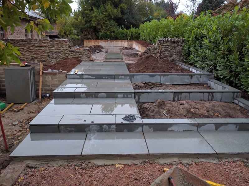 garden design and landscaping in progress