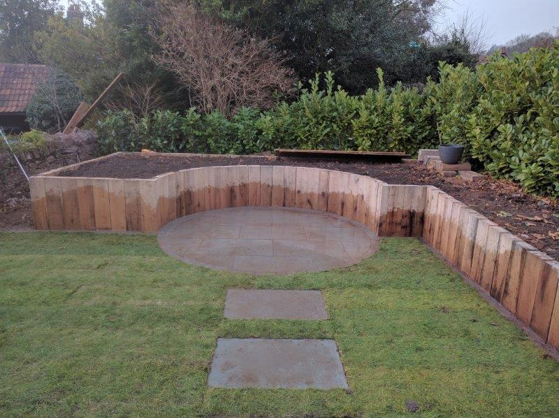 natural timber raised bed