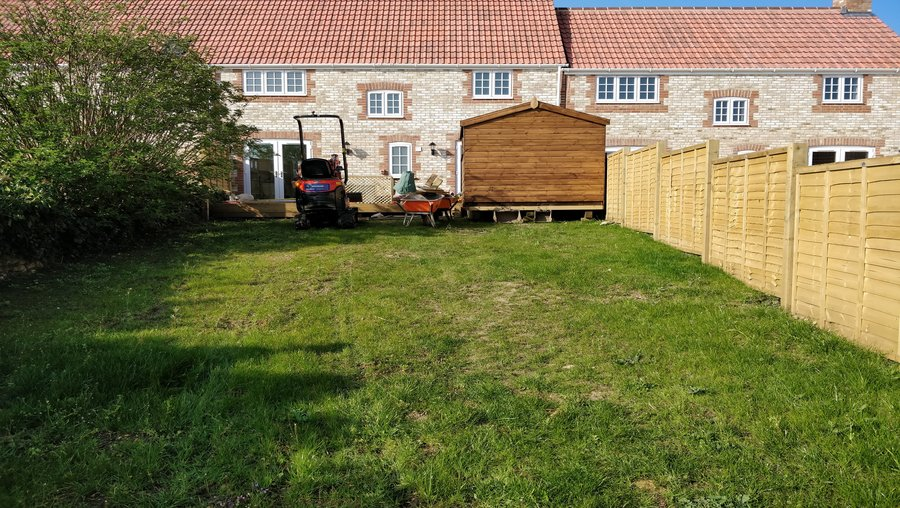 Templecombe back garden before its makeover