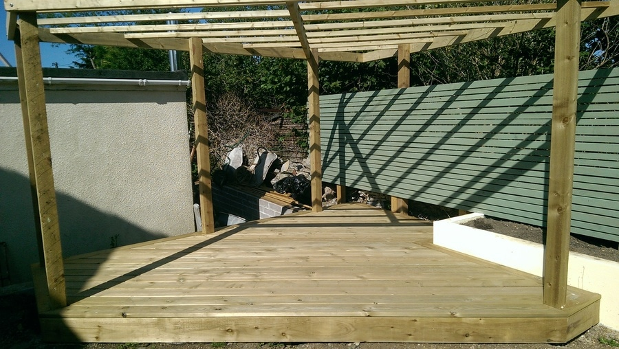 carpentry in landscaping building a timber deck and pergola