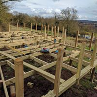 decking project in somerset with amazing views